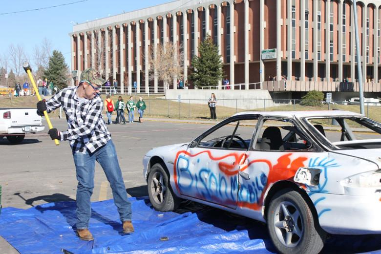 RUSTLERS SMASH CAR IN THE NAME OF FUNDRAISING