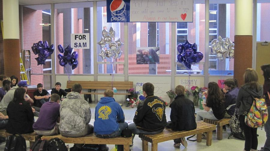 RUSTLER FAMILY HONORS SENIOR WITH COMMONS MEMORIAL