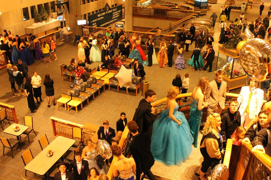 STUDENTS FLOCK TO GREAT FALLS INT'L AIRPORT FOR ANNUAL PROM