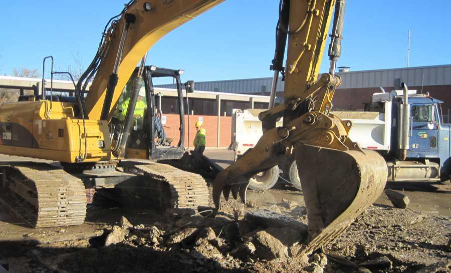 REPAIRS CONTINUE ON SCHOOL PIPES