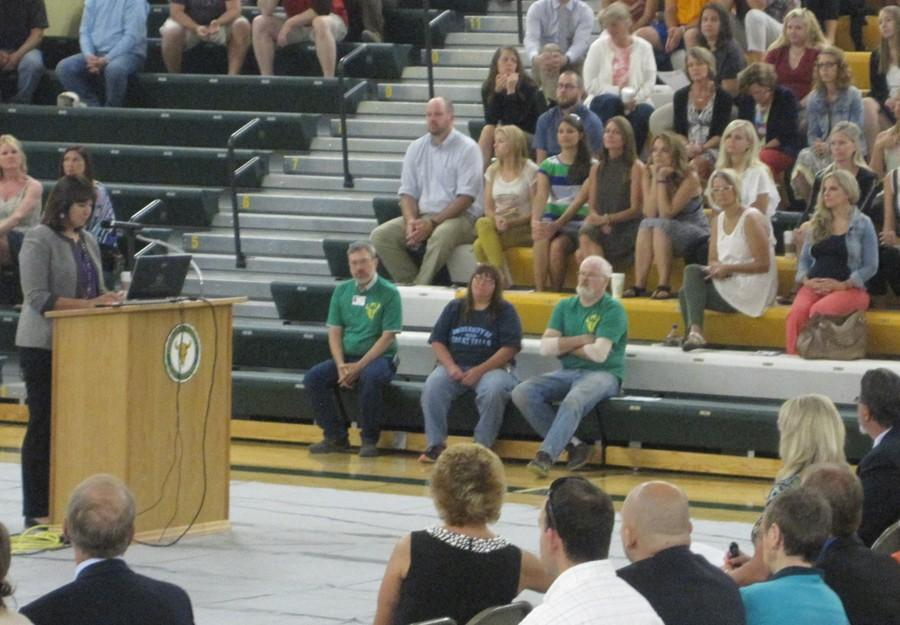 GFPS EMPLOYEES GATHER IN CMR FIELDHOUSE ON FIRST DAY