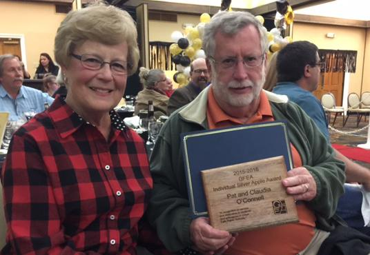 Pat and Claudia O'Connell receive GFEA Silver Apple Award