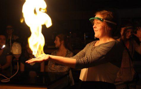 Chemistry magic show entertains, teaches