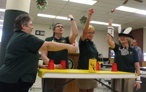 Teachers ham it up at annual Retirement Tea