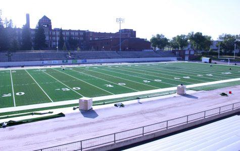 Memorial Stadium turf work continues